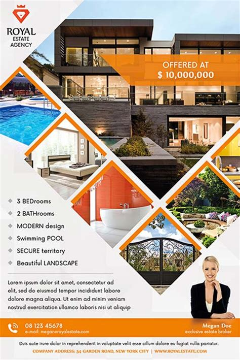 property flyer template free real estate multipurpose free flyer template