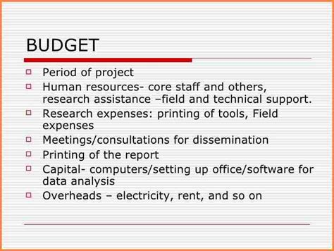 Budget And Budgetary Mba Project Pdf by Budget Budget Sle For Event