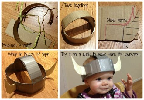 How To Make A Viking Hat Out Of Paper - where s my glow how to make a viking costume on a