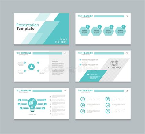 design elements report page layout design template for presentation stock vector