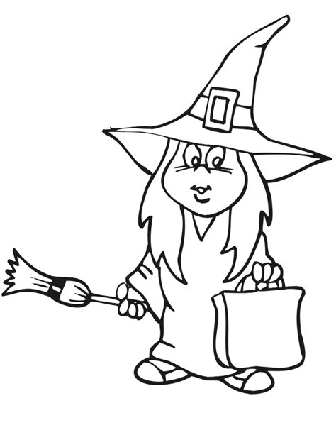 coloring pages oz witch halloween cartoon witches cliparts co