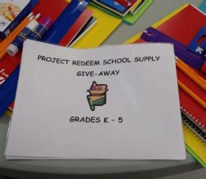 School Supply Giveaway 2017 Columbus Ohio - project redeem