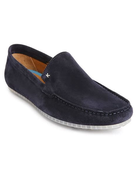 blue suede loafers for kenzo navy blue suede loafers in blue for navy