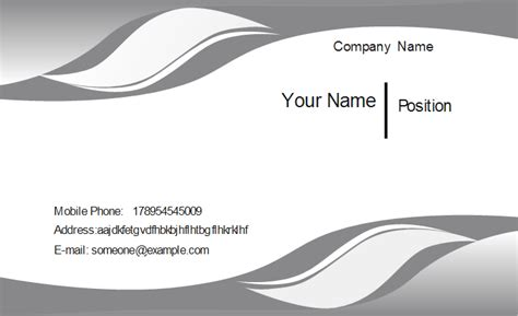 curved card template business cards pdf format gallery card design and card