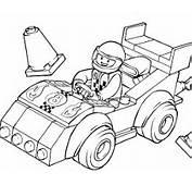 Coloriage LEGO Juniors  Voiture De Course