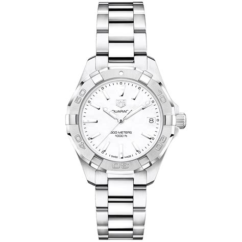 Tag Heuer Aquaracer Steel For tag heuer aquaracer 32mm steel white of pearl