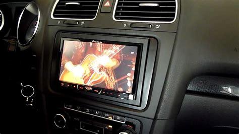 Autoradio X Golf by Pioneer Avh 4400bt Im Vw Golf Vi Kurzes Preview In