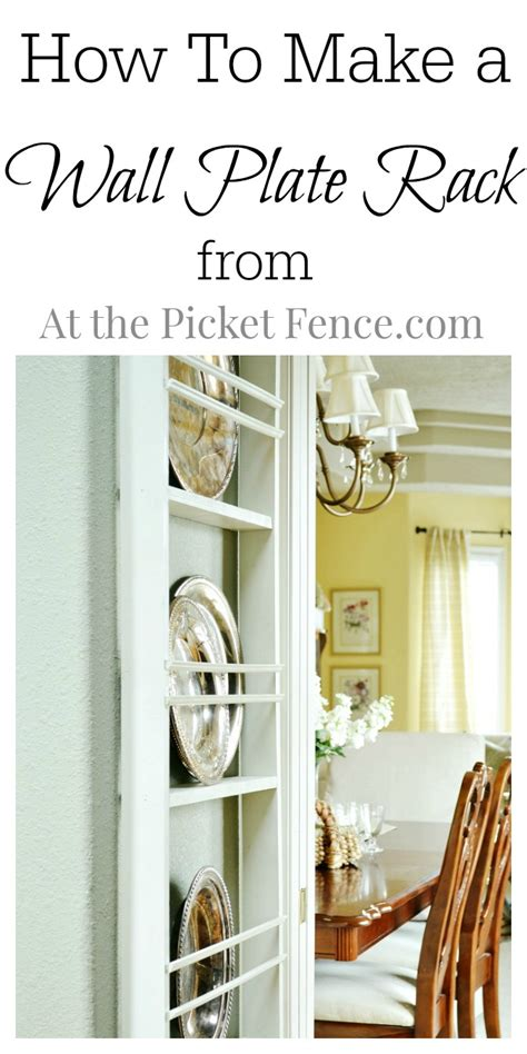 How To Cook A Rack Of In The Oven by Diy Wall Plate Rack At The Picket Fence