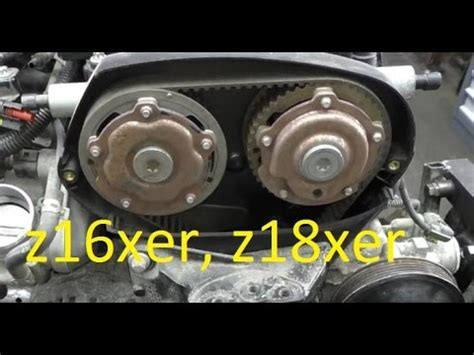 v xer camshaft gear adjusters replacement on z16xer z18xer astra