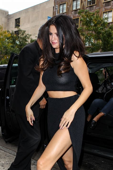 selena gomez see through selena gomez braless in see through black top http