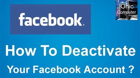 deactivate  facebook account  ii learn