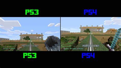 minecraft console ps3 minecraft ps3 vs ps4 comparacion de graficos