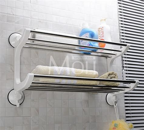 suction shelf bathroom plastic stainless steel towel holder suction cup towel