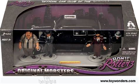 Hommies Figure Diorama Diecast Wheels Wolfe 1939 chevy master deluxe top w figures by toys homie original mobsters 1 24 scale