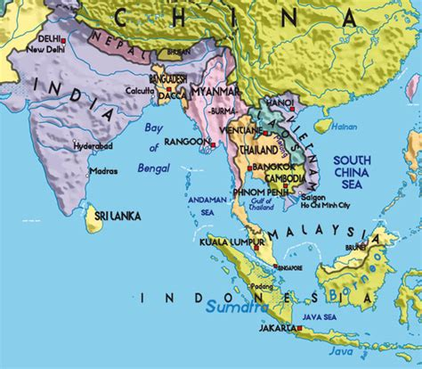 asien map overview asia pavo muticus