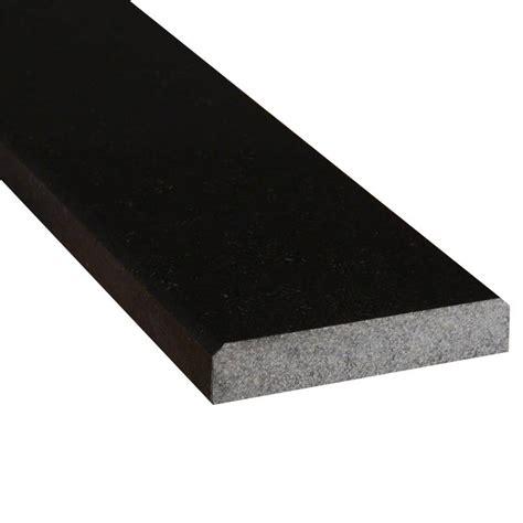 black granite 4x36x 75 polished double beveled thresholds