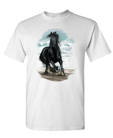 design your own horse hoodie top design short sleeve cotton party shirts on the beach
