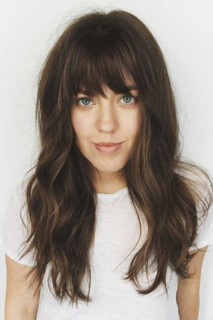hairstyles with chunky bangs fake bangs are still happening here s exactly how to