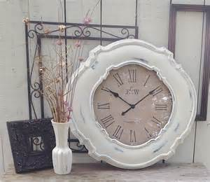 shabby chic wall clock winter time shabby chic white wall clock 23 by