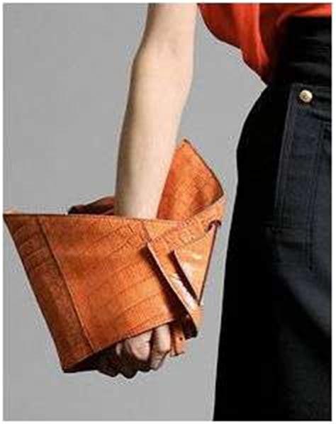 Origami Bag Fold - origami bags leather alligator fold clutch