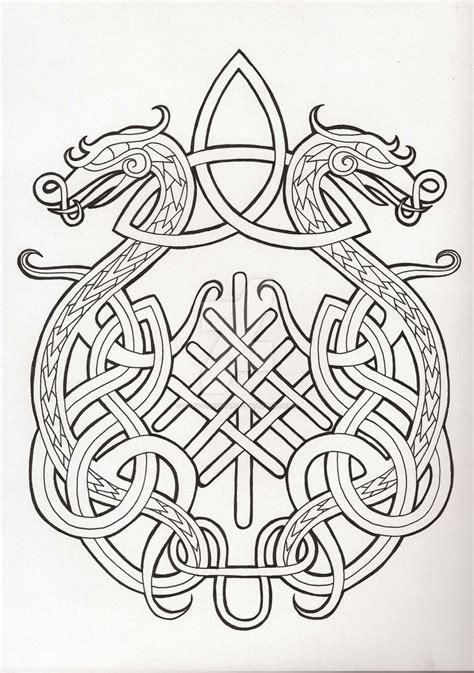 viking pattern meaning dragon by fiery crossroad d7xoekh jpg 750 215 1066
