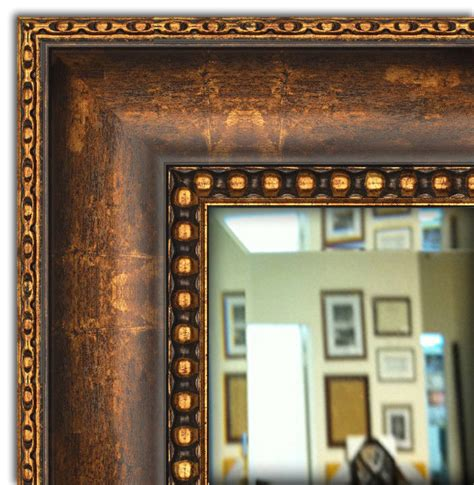 Wall Framed Mirror Bathroom Vanity Mirror Bronze Gold Framed Mirror For Bathroom