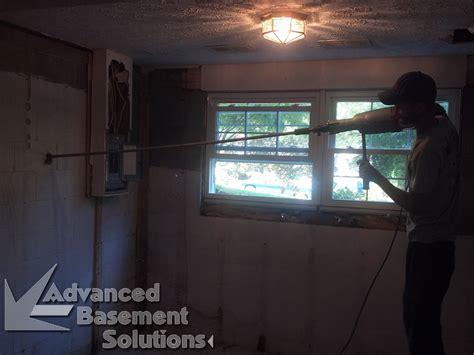 advanced basement solutions bowed wall repair advanced basement solutions