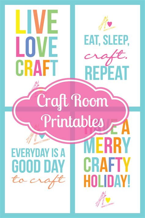 crafts printables craftaholics anonymous 174 colorful free craft room printables