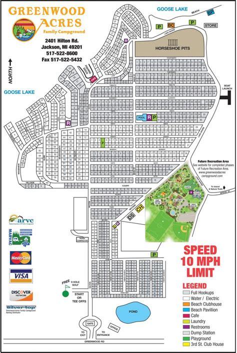 acres resort map sitemap greenwood acres family cground