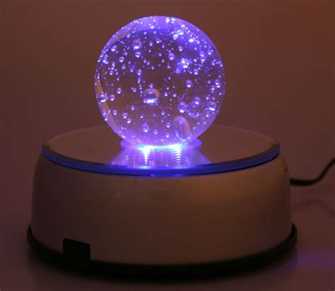 led lighted stand with glass sphere desertusa store