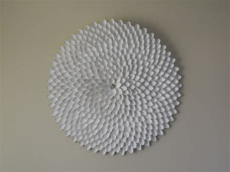 plastic wall decor plastic spoon wall manic makings