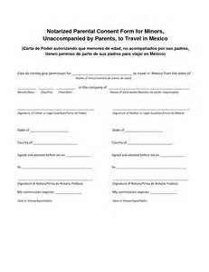 Authorization Letter Unaccompanied Minors consent letter sample notarized letter template and consent to travel