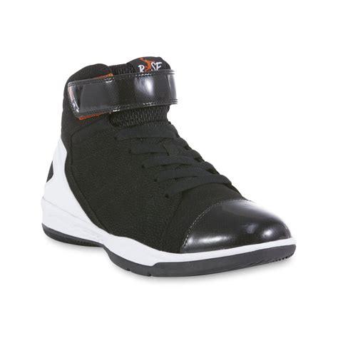 kmart basketball shoes risewear s glide high top shoe black white