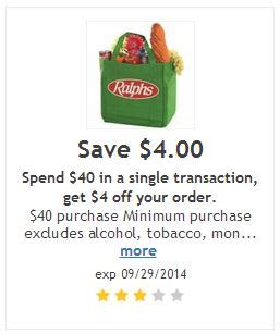 Buy Ralphs Gift Card Online - 4 off 40 purchase ralphs coupon
