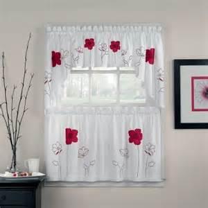 Poppy Kitchen Curtains Chf Industries Poppy Garden Tailored Tiered Kitchen Curtain Modern Curtains By Hayneedle