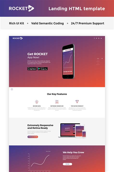 business landing page html5 template