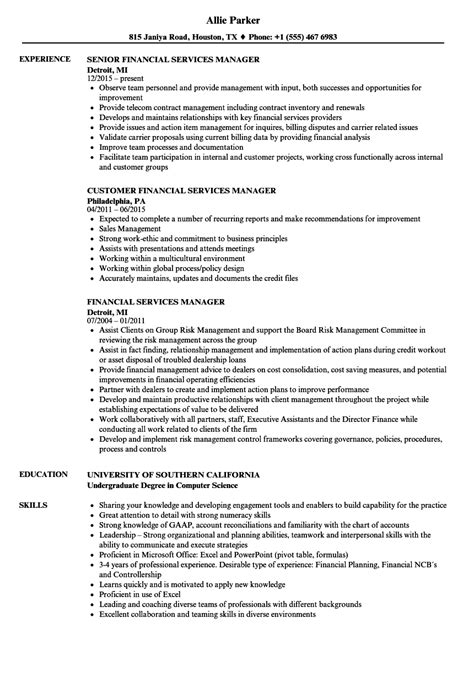 service advisor resume financial advisor resume example free
