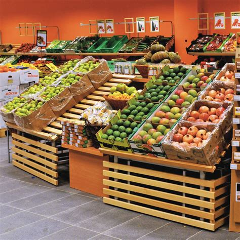 produce vegetables and fruit display round tube fruit and vegetable display wanzl
