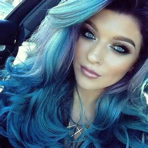 blue hair colors 27 blue ombre hair color ideas mermaid will