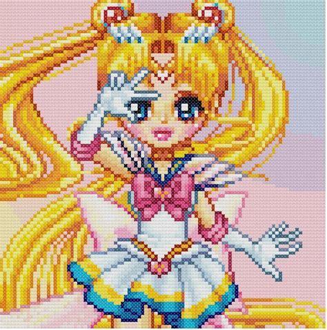 sailor moon knitting patterns sailor moon cross stitch pattern