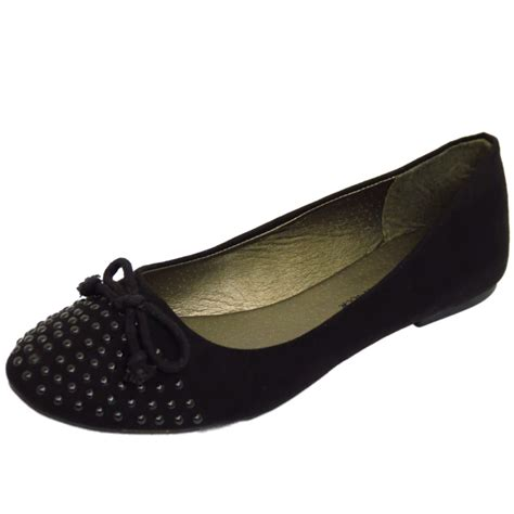 flat school shoes black slip on flat comfy work school shoes dolly