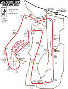 Road America Map by Winding Road Track Guide Road America