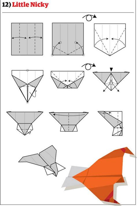 How To Make A Jet Paper Airplane - how to make 12 types of paper airplane