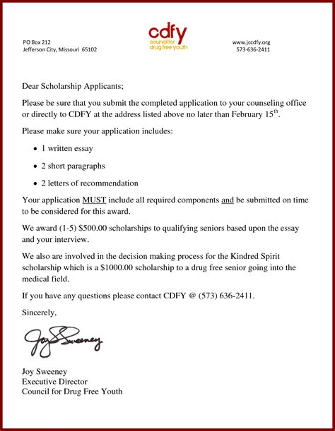 cover letter for scholarship essay college scholarship cover letter sle