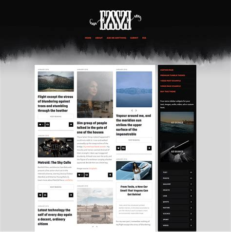 professional website templates for blogger 102 premium blog themes responsive website templates 2018