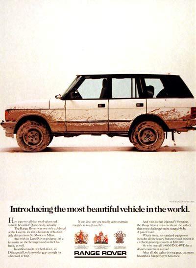 vintage land rover ad 1987 range rover 4x4 classic vintage print ad