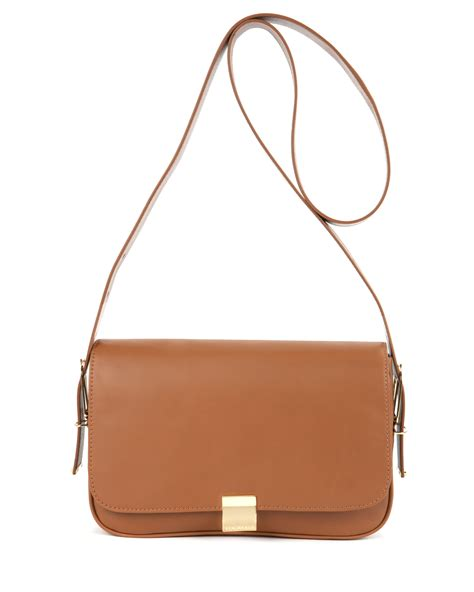 Maldavis Brown Slingbag Lyst Ted Baker Tisabel Leather Sling Bag In Brown