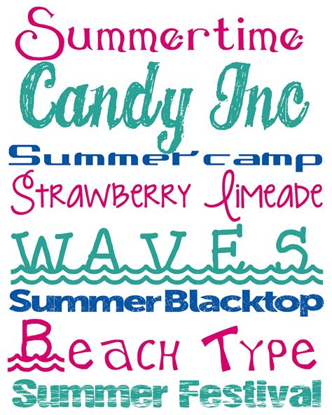 printable beach fonts alderberry hill free summer fonts