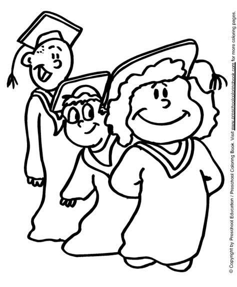 coloring pages for preschool graduation graduation desehos colouring pages