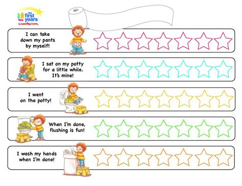 potty training chart kids stuff pinterest